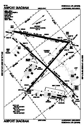 Holloman Afb Airport (HMN) diagram