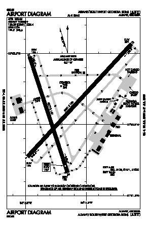 Southwest Georgia Regional Airport (ABY) diagram