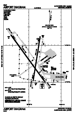 Alexandria International Airport (AEX) diagram