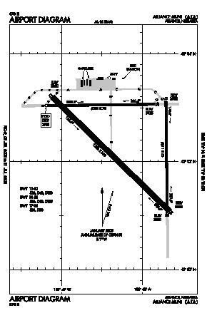 Alliance Municipal Airport (AIA) diagram