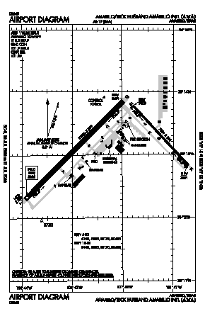 Rick Husband Amarillo International Airport (AMA) diagram