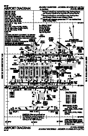 Hartsfield Jackson Atlanta International Airport ATL Map