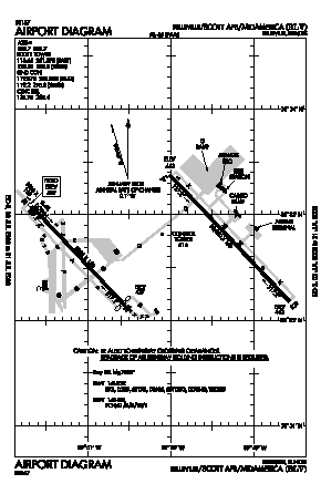 Scott Afb/midamerica Airport (BLV) diagram