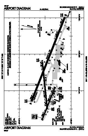 Billings Logan International Airport (BIL) diagram