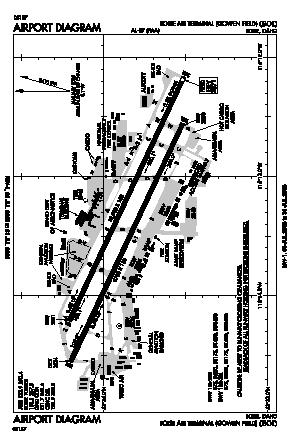 Boise Air Terminal/gowen Fld Airport (BOI) diagram