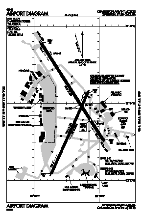 Charleston Afb/intl Airport (CHS) diagram