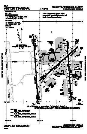Charlotte/douglas International Airport (CLT) diagram