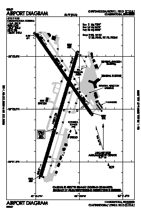 Lovell Field Airport (CHA) diagram