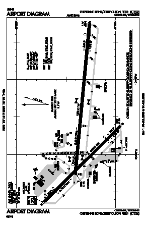 Cheyenne Rgnl/jerry Olson Field Airport (CYS) diagram