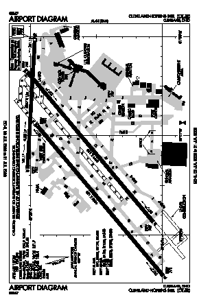 Cleveland-hopkins International Airport (CLE) diagram