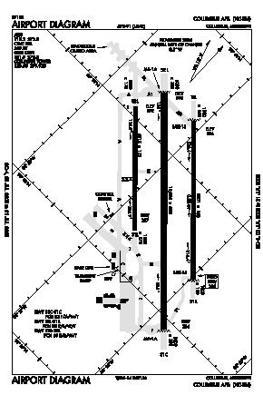 Columbus Afb Airport (CBM) diagram