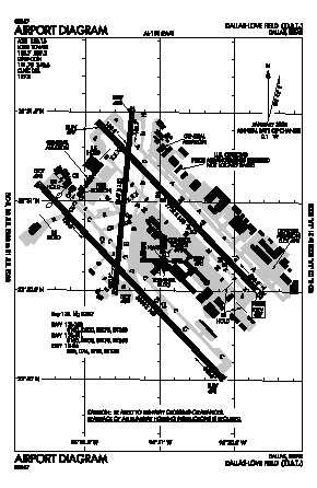 Dallas Love Field Airport (DAL) diagram