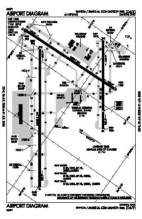 James M Cox Dayton International Airport (DAY) diagram