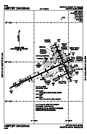 Daytona Beach International Airport (DAB) diagram