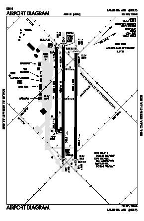 Laughlin Afb Airport (DLF) diagram