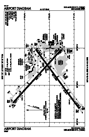 Des Moines International Airport (DSM) diagram
