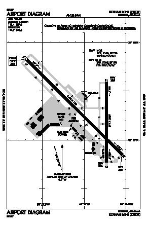 Dothan Regional Airport (DHN) diagram