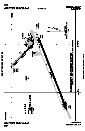 Elko Regional Airport (EKO) diagram
