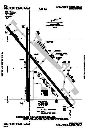 Elmira/corning Regional Airport (ELM) diagram