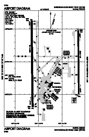 Mahlon Sweet Field Airport (EUG) diagram