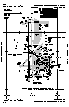 Snohomish County (paine Fld) Airport (PAE) diagram
