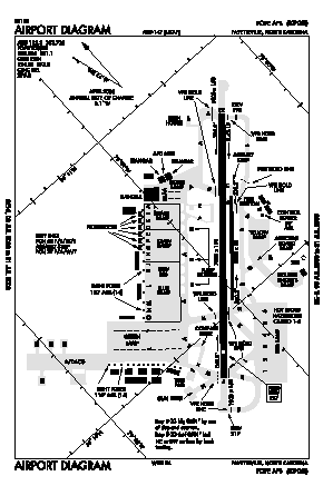 Pope Aaf Airport (POB) diagram
