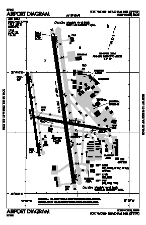 Fort Worth Meacham International Airport (FTW) diagram