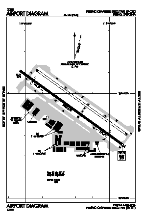 Fresno Chandler Executive Airport (FCH) diagram