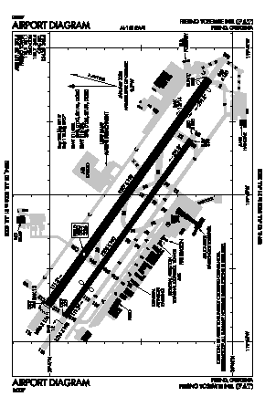 Fresno Yosemite International Airport FAT Map Aerial Photo Diagram