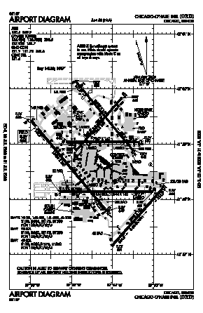 Chicago O'hare International Airport (ORD) diagram