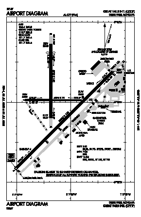 Great Falls International Airport (GTF) diagram