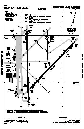 Ellington Airport (EFD) diagram