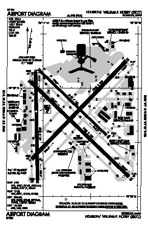 William P Hobby Airport (HOU) diagram
