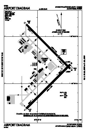 Jacksonville Executive At Craig Airport (CRG) diagram