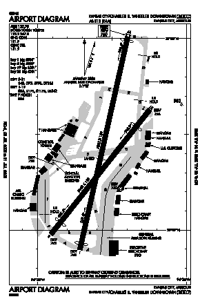 Charles B. Wheeler Downtown Airport (MKC) diagram