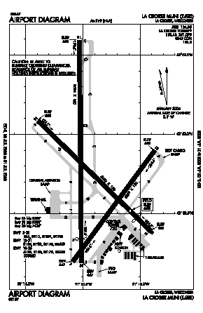 La Crosse Municipal Airport (LSE) diagram