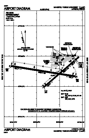 Purdue University Airport (LAF) diagram