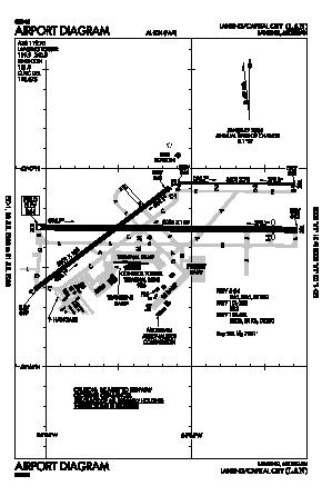Capital Region International Airport (LAN) diagram
