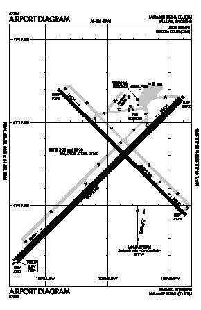 Laramie Regional Airport (LAR) diagram