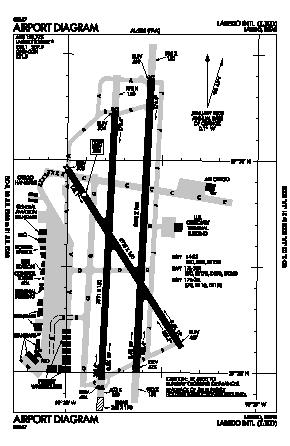 Laredo International Airport (LRD) diagram