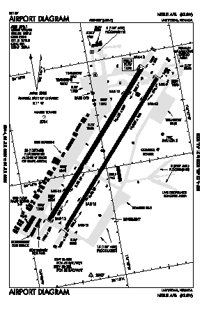 Nellis Afb Airport (LSV) diagram