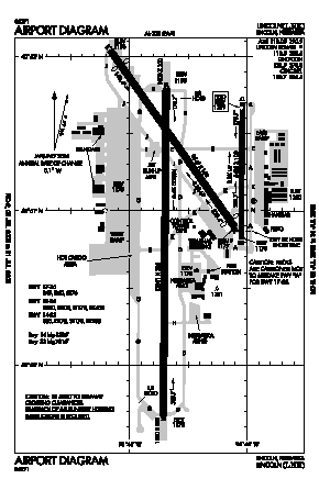 Lincoln Airport (LNK) diagram