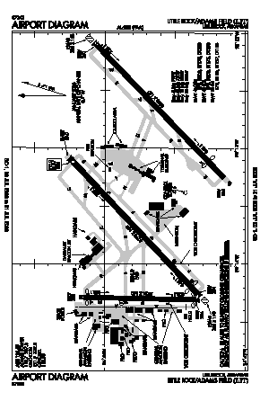 Bill And Hillary Clinton National/adams Fi Airport (LIT) diagram