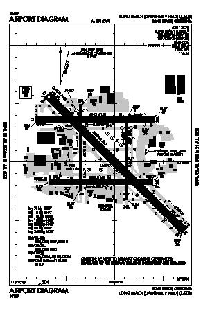 Long Beach /daugherty Field/ Airport (LGB) diagram