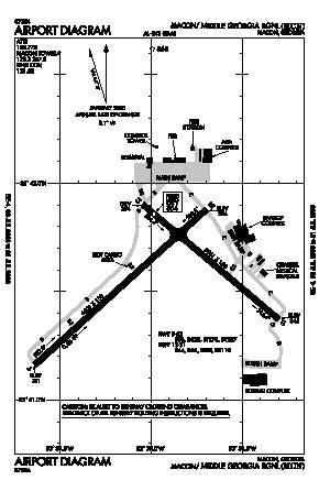 Middle Georgia Regional Airport (MCN) diagram