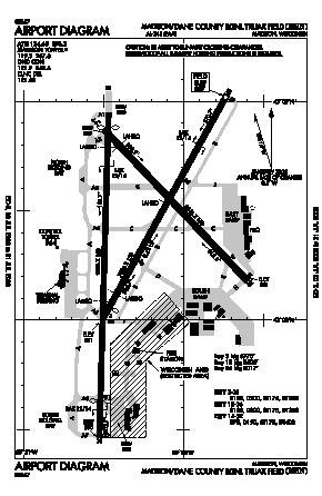Dane County Rgnl-truax Field Airport (MSN) diagram