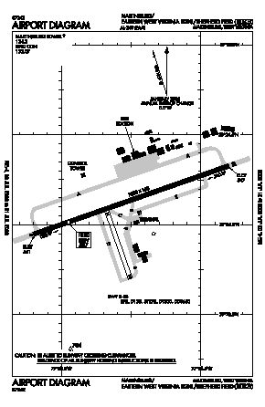 Eastern Wv Rgnl/shepherd Fld Airport (MRB) diagram