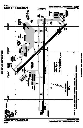 The Eastern Iowa Airport (CID) diagram