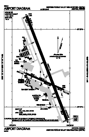 Rogue Valley International - Medford Airport (MFR) diagram