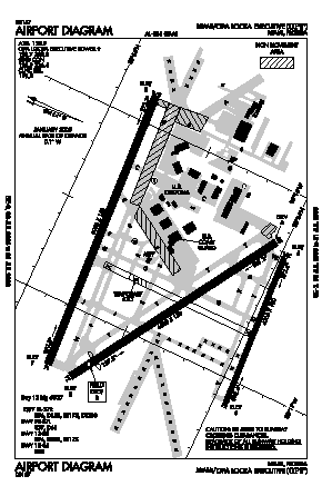 Opa-locka Executive Airport (OPF) diagram